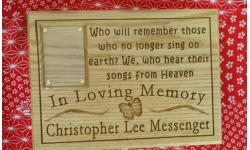 Personalized Butterfly Photo Plaque