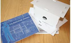 Birdhouse Project Blue Book & Cardboard Birdhouse Kit