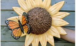 Handmade Sunflower Urn