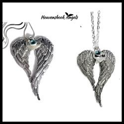 Heavenly Guardian Angel Wings Necklace