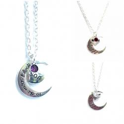 Guardian Angel Moon and Back Necklace