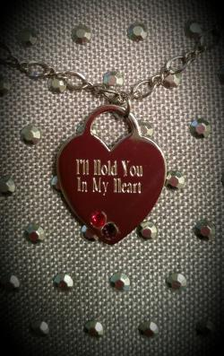 I'll Hold You In My Heart Sterling Silver Pendant (add up to 3 birthstones)