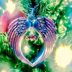 An Open Guardian Angel Wing Ornament