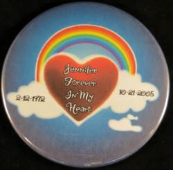 Rainbow With Heart Magnet or Pin