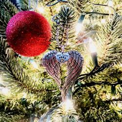 Mans Best Friend Heavenly Wing Ornament