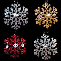 Guardian Angel Snowflake Christmas Tree Ornament