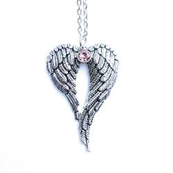 Heavenly Angel Wings Birthstone Necklace