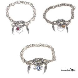 Guardian Angel Forget Me Knot Silver Link Chain Bracele