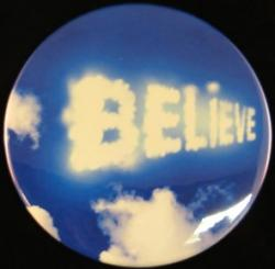 Believe Cloud Magnet or Pin