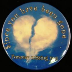 Broken Heart Cloud Magnet or Pin
