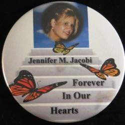 Butterflies On Stairway Magnet or Pin