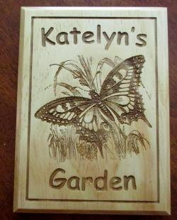 Personalized Garden Butterfly Plaque In Memory of Small Garden Decor