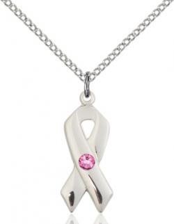 Awarness Ribbon Birthstone Pendant