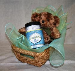 Gift Basket Bear and Conversation Cards