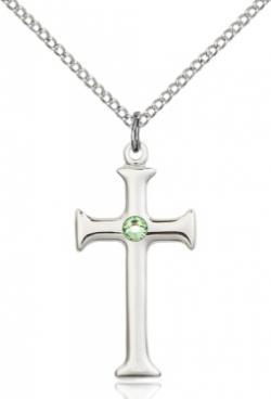 Sterling Silver Birthstone Cross Pendant