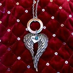 Heavenly Halo Guardian Angel Wing Ornament