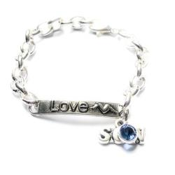 Guardian Angel Fly High Silver Link Chain Bracelet