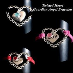 Guardian Angel Twisted Heart Bracelet