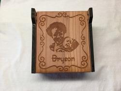 Inspired work of art, music box, bereavement gift, memorial gift