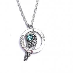 Angel Wing Halo Necklace