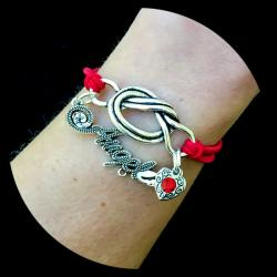 Written Angel Forget Me Knot Bracelet