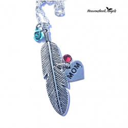 Open Feather Guardian angel Necklace
