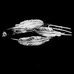 Silver Forever Feather Bangle