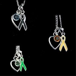 Hope Awareness Open Heart Necklace