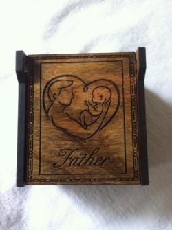 Engraved Dad Wooden Memory Box, Daddys little girl, Daddys little boy, My Angel