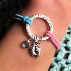 Infant loss tiny prints Halo Bracelet
