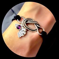 Grief Toolbox Rainbow Birthstone Forget Me Knot Bracelet