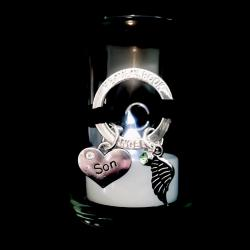 Burning Halo Guardian Angel Wing Votive