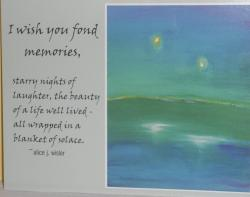 I Wish You Fond Memories Postcards