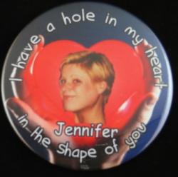 Hole In My Heart Photo Magnet or Pin