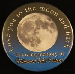 Love You To The Moon Magnet or Pin