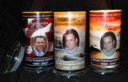 Personalized candles, memorial candles, sympathy candles