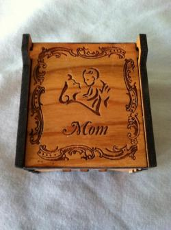 Mom Wooden Memory Box, Mother, Mothers Day, Angel, Heaven, God, religious,