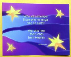 Songs From Heaven Remembrance Postcards