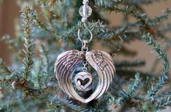 Angel Wings Forever in My Heart Ornament