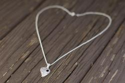 Reunion Heart Necklace - Sterling Silver
