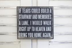 If Tears Could Build... Box Sign