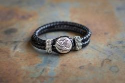 Angel Wings Leather Bracelet