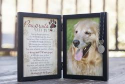 Pawprints Left by You Memorial Frame - Dog