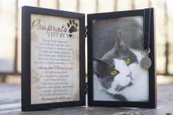 Pawprints Left by You Memorial Frame - Cat