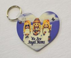 Angel Mom Keychain