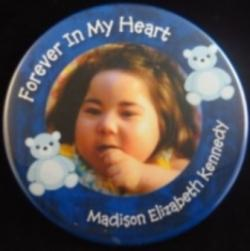Forever In My/Our Heart(s) Small Bear Photo Magnet or Pin