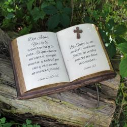 BIBLE & CROSS- Cremation Urn Sculpture
