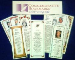 Memorial Bookmarks - honoring your loved one