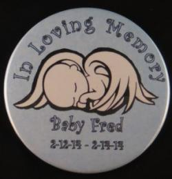 Baby Angel Magnet or Pin