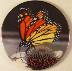 Believe Monarch Butterfly Magnet